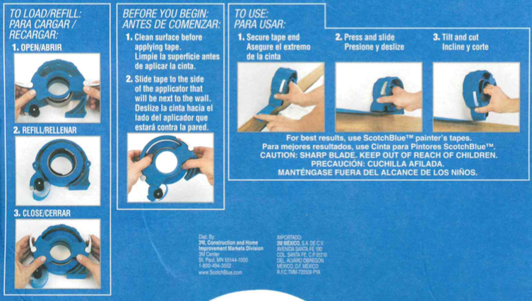Here's the Instructions on how to load our 3M Masking Tape Applicator