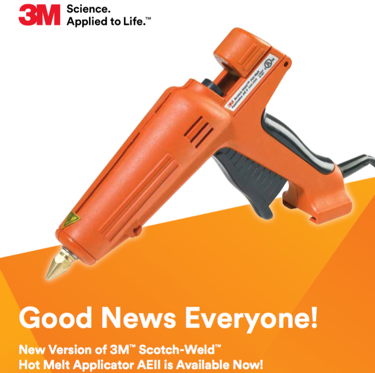 3M AEII Hot Melt Glue Gun is back in stock !