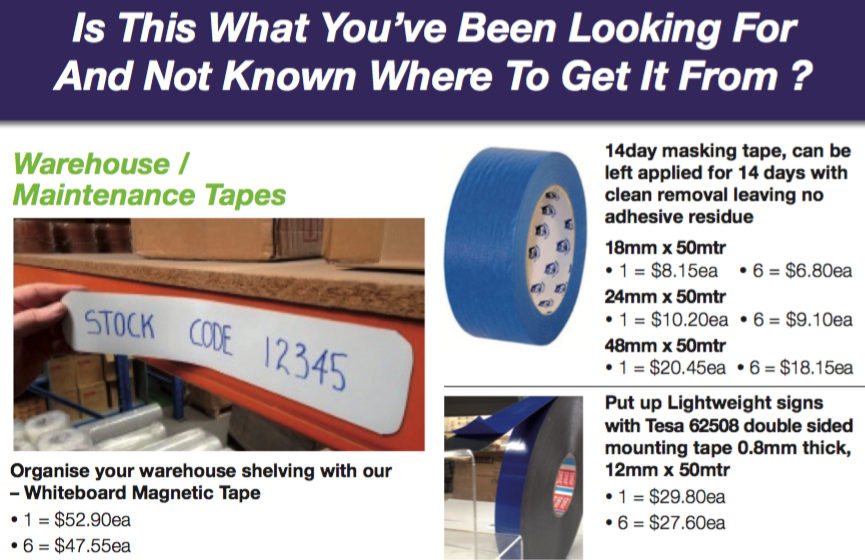 April - May 2016 ETS Tape Promotion