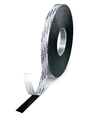 Black High Bond Double Sided Tape - 1mm Thick - Tesa 7074 ACX
