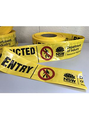 Barrier - Barricade Safety Tape (Custom Printed)