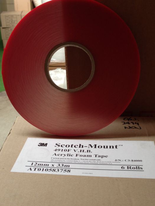 3M 4910 Clear Double Sided VHB Tape (1mm Thick)