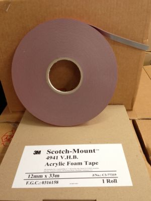 3M 4941 Grey Double Sided VHB Tape (1.1mm Thick)