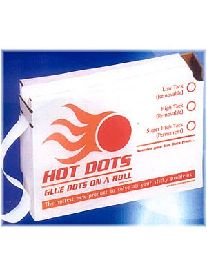 Glue Dots on a Roll - Hot Dots - Sticky Dots
