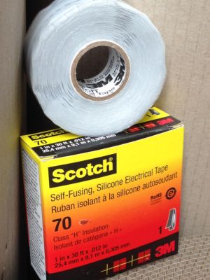 3M Scotch 70 Silicone Rubber Tape  - 25mm x 9mtr