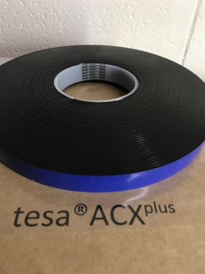 Black High Bond Double Sided Tape - 2mm Thick (Tesa 7078 ACX)