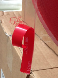 Clear 1mm thick Very High Bond Double Sided Tape - 3M 4910 VHB Tape