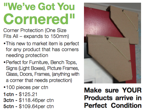 Protect the corners of your products with our Expanding Corner Protection