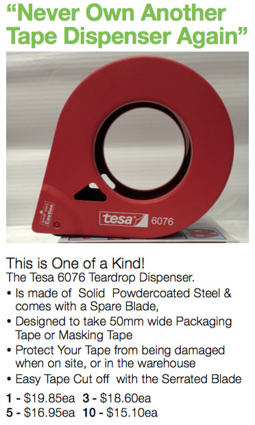 Never own another Tape Dispenser Again with our Tesa 6076 Teardrop Dispenser